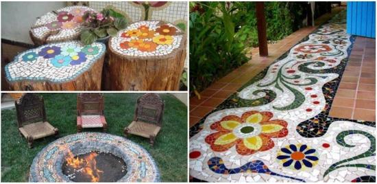 Ce poti face cu mozaicul in gradina