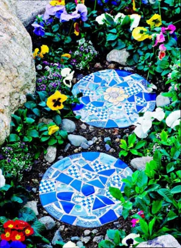 Dale de gradina din mozaic