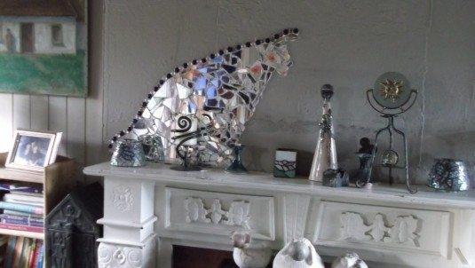 Obiecte realizare din sticla sparta