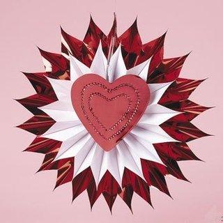 Decoratiune romantica pentru ziua indragostitilor din hartie stea cu inima