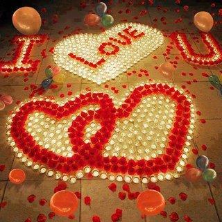 Idee declaratie de dragoste cu lumanari
