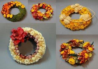 coroana de toamne din flori de camp