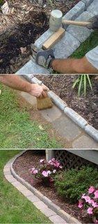 Cum faci o bordura pentru flori din caramizi