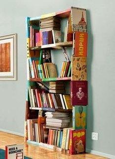 Biblioteca confectionata in totalitate din carti vechi