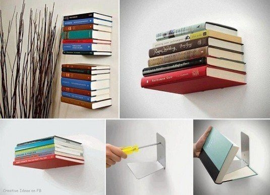 Idee de raft invizibil pentru carti