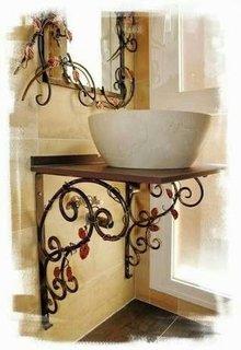 Decoratiuni baie din fier forjat