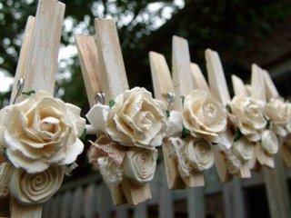 Elemente decorative din carlige cu flori
