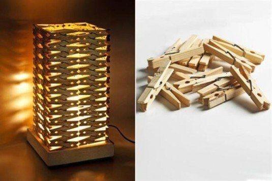 Proiect do it yourself abajur pentru candela din carlige