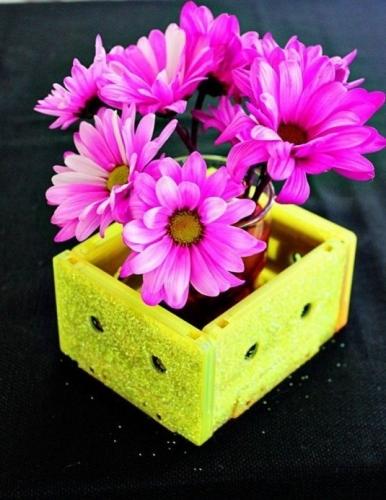 Vaza pentru flori cu sclipici