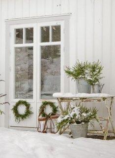 Coronite de brad pentru ferestre de Craciun