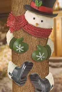 Decoratiune om de zapada pentru afara