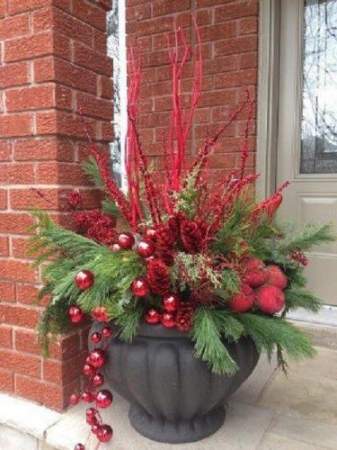 Ornament ghiveci pentru usa de la intrare