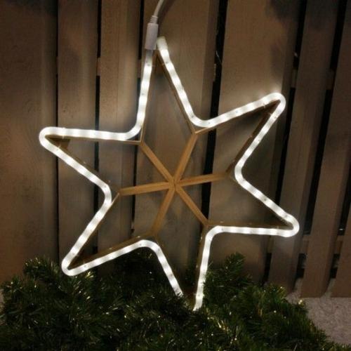 Stea decoratiune luminoasa pentru exterior