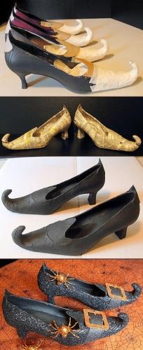 Pantofi de vrajitoare cu paianjeni