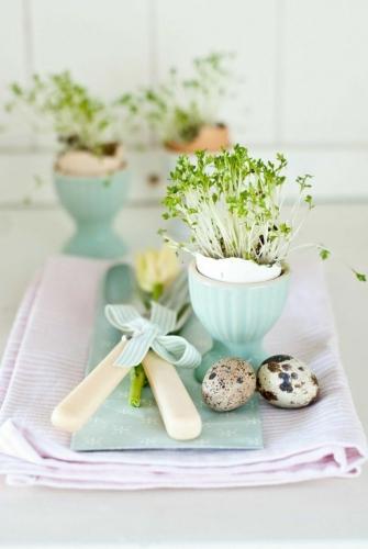 Aranajament pentru masa de Paste cu oua de prepelita