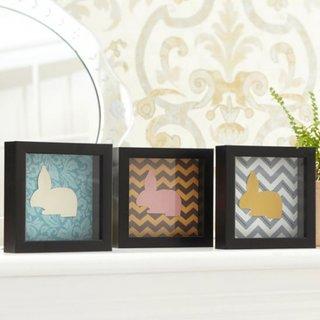Colectie de tablouri mici cu colaj cu iepurasi