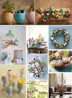 Idei de decoratiuni de paste din coji de oua flori si lumanari