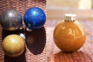 Decoratiuni pentru sarbatorile de iarna cu sclipici