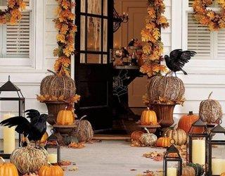 Decor exterior special creat pentru Halloween