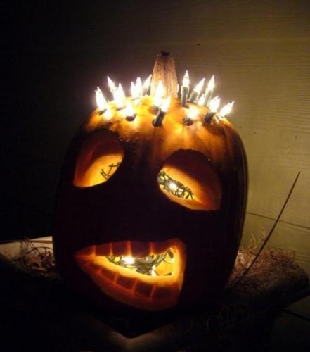 Dovleac pentru Halloween luminat