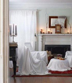 Idee de decorare a livingului pentru Halloween