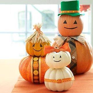 Familie de dovleci decoratiune de Halloween