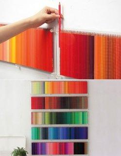 Decorarea peretelui folosind creioane colorate