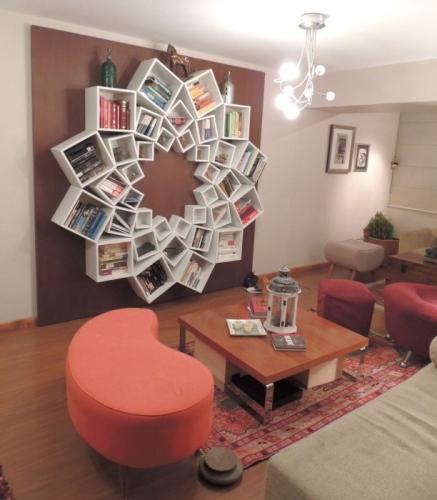 O biblioteca in forma de floare