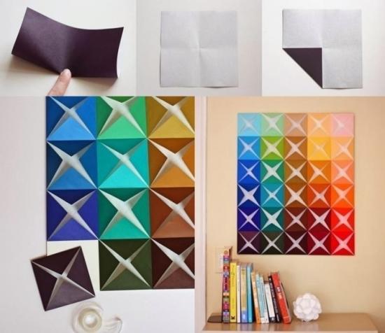 Origami pentru decorarea peretilor