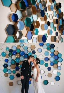 Ornamente in forma de hexagon pentru pereti