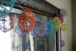 Globuri hand made din sfoara colorata