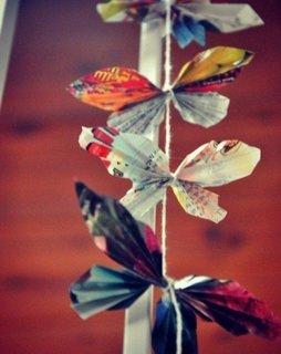 Decoratiune cu fluturasi