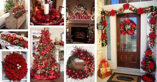 Cele mai frumoase 40 de decoratiuni rosii pentru Craciun - pentru a le insufla tuturor spiritul sarbatorilor