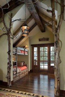Ancadrament nisa din crengi de copac