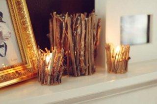 Suport de lumanari rustic facut acasa
