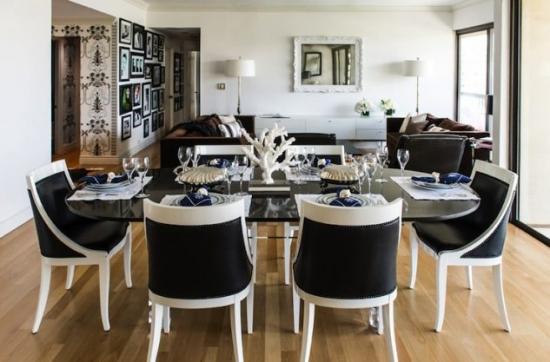 Decor clasic dining alb negru