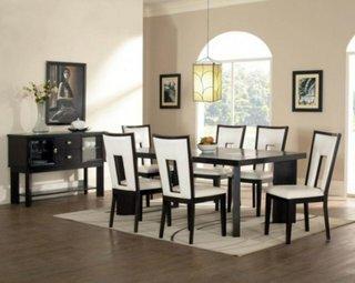 Decor dining alb negru