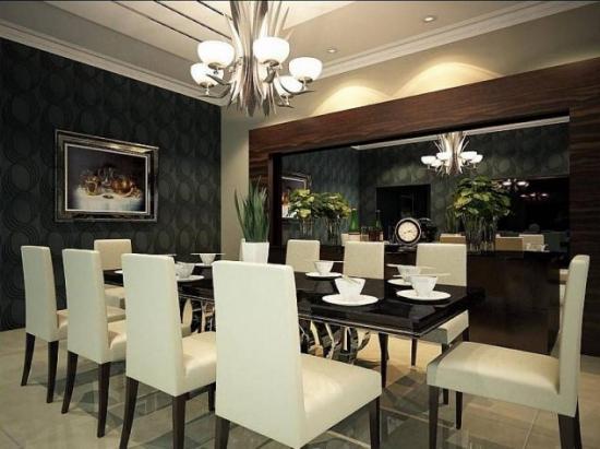 Dining elegant cu decor alb negru