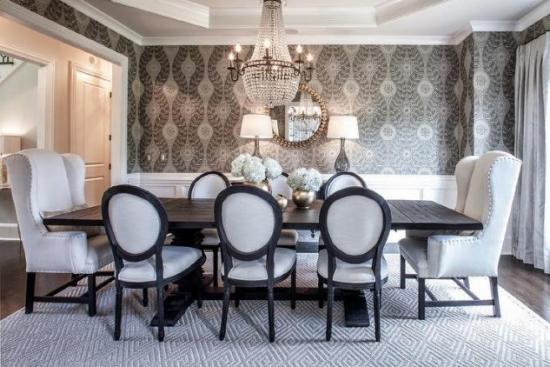 Dining luxos cu decor alb negru