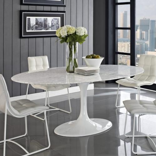 Dining minimalist cu decor alb negru