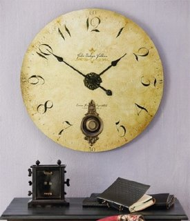 Ceas decorativ auriu