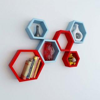 Rafturi hexagonale colorate