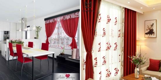 UITE 40 de MODELE de PERDELE si DRAPERII ROSII - pentru decoruri elegante si calde