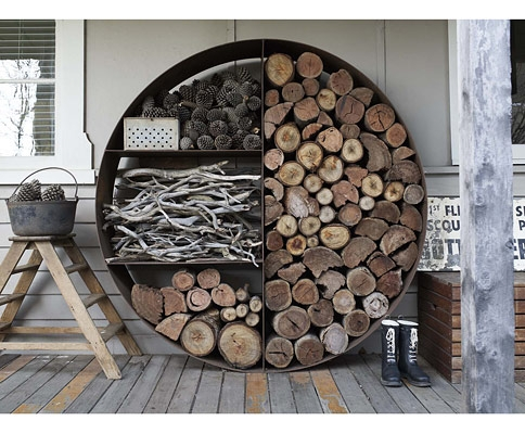 Suport circular depozitare lemne