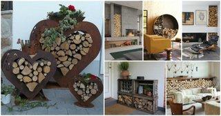 idei depozitare lemne de foc in interior