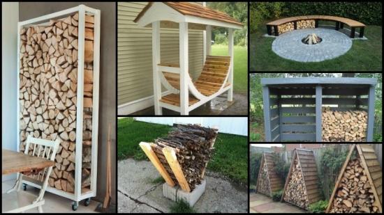 Idei ingenioase depozitare lemne foc