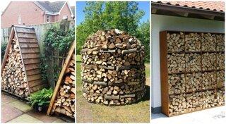 Super idei pentru depozitarea lemnelor de foc in curte