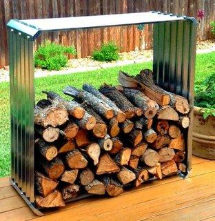 Suport din tabla ondulata pentru lemne