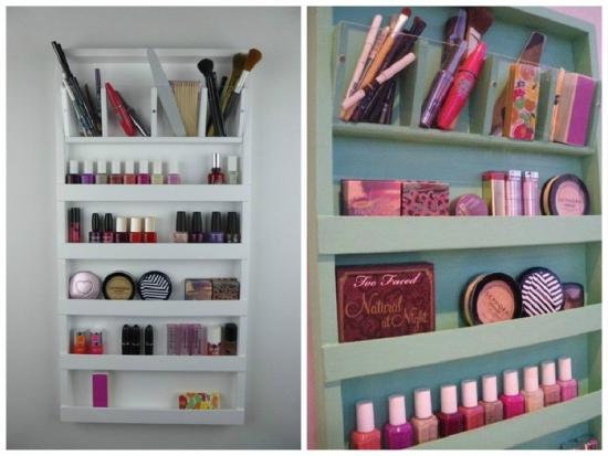 Organizator compact pentru depozitare cosmetice
