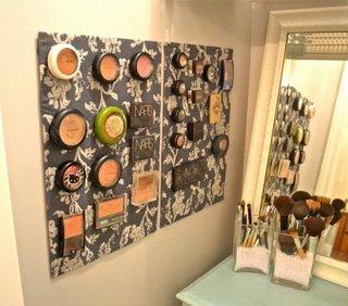 Panou textil cu velcro pentru organizare produse cosmetice